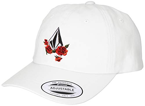 Volcom Junior's Women's Totally Stoke Adjustable Hat, White, ONE Size FITS All