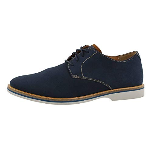 - CLARKS Atticus Lace Mens Oxfords Navy Nubuck 9.5