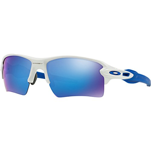 Oakley Flak 2.0 XL Sunglasses - OO9188 20 - Polished White-Blue/Sapphire - Eyewear Oakley Protective Sports