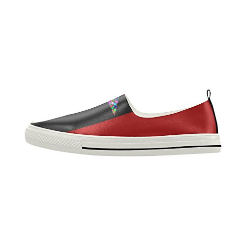 D-histoire Coloré Étoiles Rayures Slip-on Microfibre Chaussures Sneaker