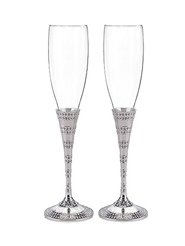 Hortense B. Hewitt Enchanting Crystal Flutes Wedding Accessories (Set of 2) - Elegance Stemware