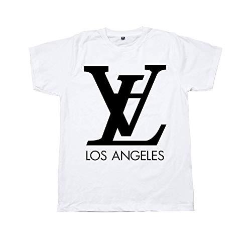 (Unisex LV - LA Los Angeles Parody T-Shirt Art Graphic Louis Vuitton Inspired Screen Printing)