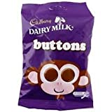 Dairy Milk Buttons, 39-Grams, 6 Pack