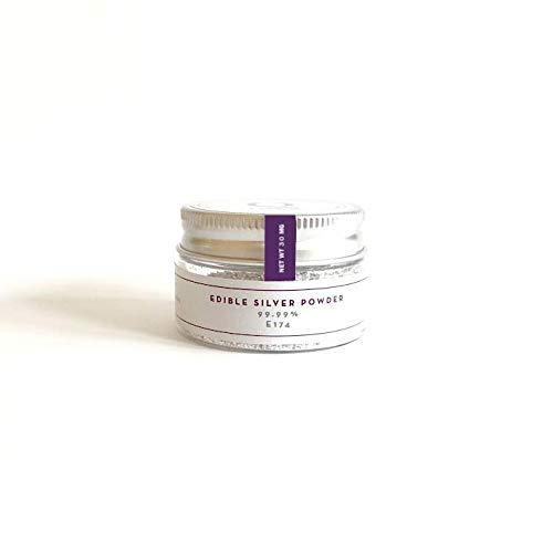 (Q-loca 100% Pure Edible Silver Leaf Powder 200 mg)