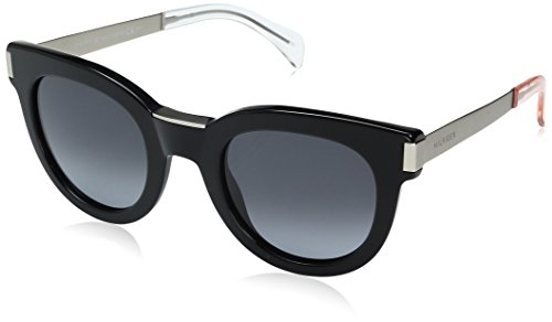 Tommy Hilfiger Women's Th1379s Rectangular Sunglasses, Black Matte Palladium/Gray Gradient, 49 - Tommy Sunglasses Prescription Hilfiger