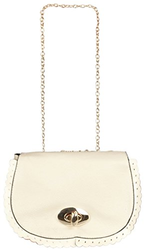 BAG109 Clayre & Eef - Clayre & Eef - Poche / Sac �?main - Imitation cuir - Naturel ca. 13 x 14 cm