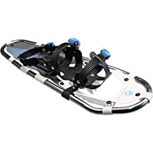 Faber Snow Mountain Aluminum Snowshoes - Strong and Lightweight Aluminum Frame with Anodized Finish, High Abrasion Resistant HDPE Decking, Suspended Pivot with Full Rotation, Light Step and Back End Stays on Snow and Does Not Stick - 8 in x 26 in
