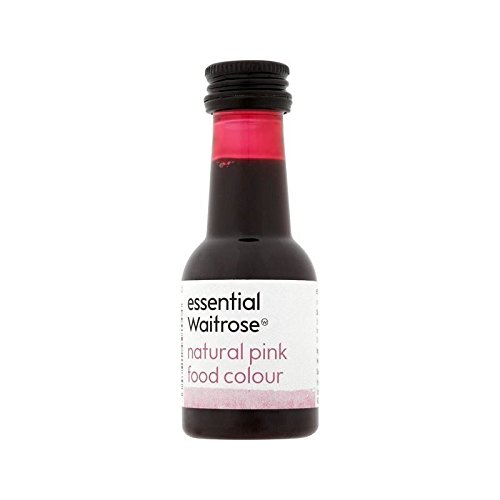 Natural Pink Food Colouring essential Waitrose 38ml - Pack of 4