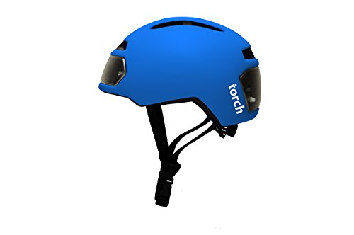 - TORCH APPAREL T2 Bike Helmet with Front and Rear LED Lights, Electric Blue