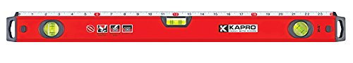 us Professional Box Level with 45° Vial & Ruler, 24-Inch Length (Exodus Torpedo)