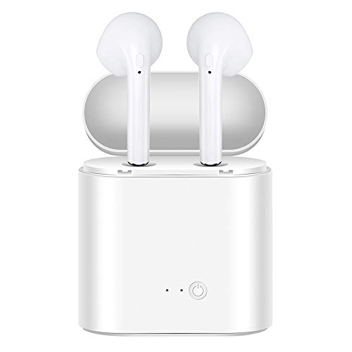 EVANTEK Wireless Bluetooth 5.0 Headphones,in-Ear Wireless Earbuds Stereo Mini Bluetooth Headset with Microphone IPX7 Anti-Sweat Sports Earbuds,Earphones Compatible with iOS/Android / - Headphones Acer Earphones