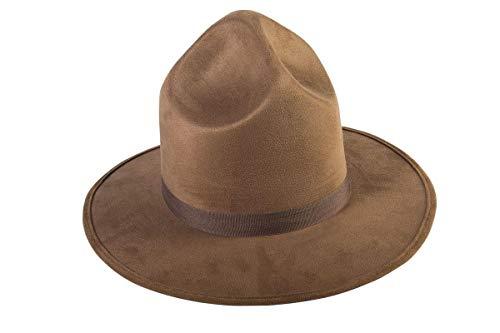 Forum Novelties Unisex Adult Standard Extra Tall Mountie Hat, Brown, One (Mountie Hat)
