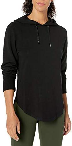 Amazon Brand - Core 10 Women`s (XS-3X)Cloud Soft Yoga Fleece Hoodie Sweatshirt