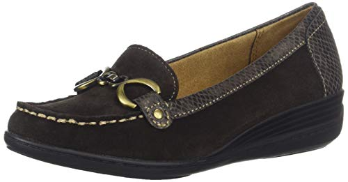 SOUL Naturalizer Women's Wakefield Loafer, Dark Brown, 9 W US