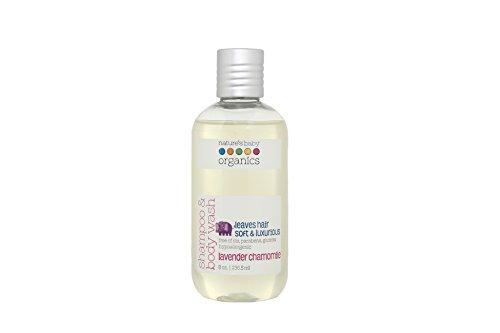 Nature's Baby Organics Shampoo & Body Wash, Lavender Chamomile, 8 oz | Babies, Kids, Adults! Moisturizing, Soft, Gentle, Rich, Hypoallergenic | No Harsh Chemical Or Parabens, SLS, ()