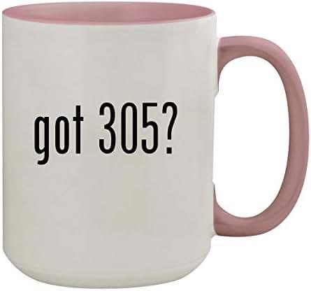 got 305? - 15oz Colored Inner & Handle Ceramic Coffee Mug, Pink