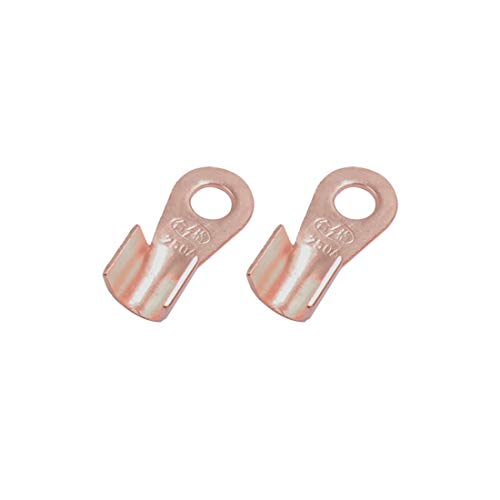 Sourcingmap 2pcs 250A Copper Ring Terminals Lug Battery Cable Connector: