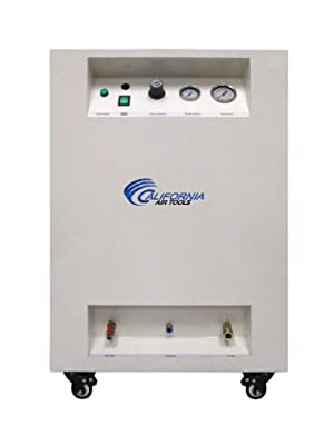 California Air Tools 10020SPC Ultra Quiet & Oil-Free 2.0 hp Steel Tank Air Compressor in Sound Proof Cabinet, 10 gal, White by California Air Tools- Home Improvement