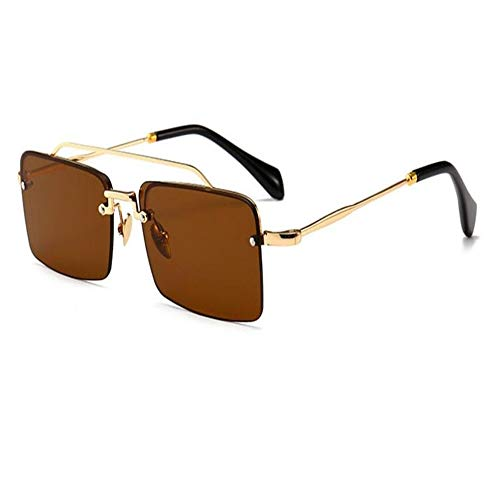 Sunglasses Women's Lunettes Hue 02 Sunglasses DERTILP Retro Glasses Rectangular Brown Ladies Retro Small Reddish wZdxqXgq