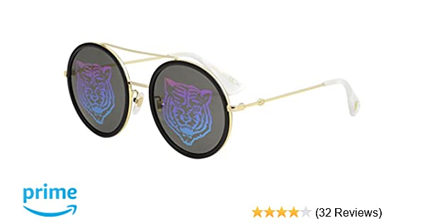b15877326d Amazon.com  Sunglasses Gucci GG 0061 S- 014 GOLD GREEN  Clothing