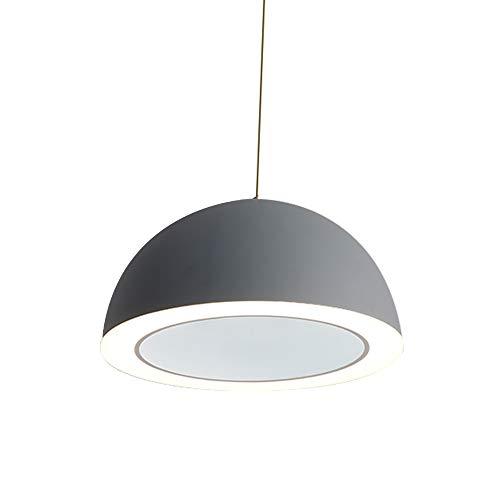 (Alamz Light 62775GR Pendant Lamp, Modern and Simple Chandelier for Living Room and Bedroom,Grey Mental Pendant Lamp)