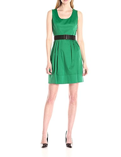 Joddie Haha Women's Fit-And-Flare Belted Dress, Grass, - Aliexpress Jersey Review