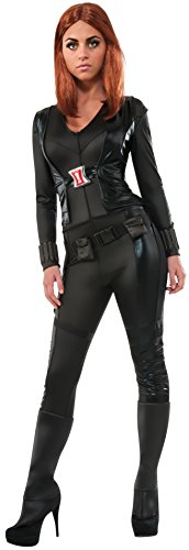 [Secret Wishes Women's Marvel Universe, Captain America: The Winter Soldier, Deluxe Black Widow Costume, Multicolor,] (Captain America First Avenger Halloween Costume)