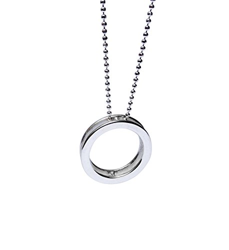 - Open Circle Pendant Necklace, Sterling Silver 925 Polished Finish, Handmade in Peru by Claudia Lira,17.5