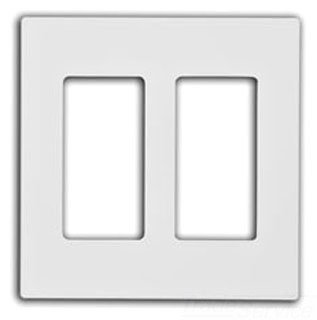 Leviton 80309-SW 2-Gang Decora Plus Wallplate Screwless Snap-On Mount, White, 20-Pack