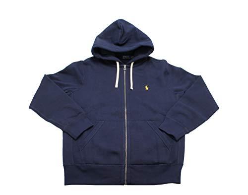 Polo Ralph Lauren Men's Hoodie Kangaroo Pocket Long Sleeve Sweatshirt (XLT, Navy)