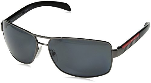 Prada Sport PS54IS Sunglass-5AV/5Z1 Gunmetal (Polar Gray Lens)-65mm ()