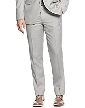 Calvin Klein Slim Light Grey Textured Flat Front New Men's Dress Pants
