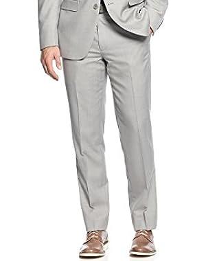 Calvin Klein Slim Light Grey Textured Flat Front New Men's Dress Pants