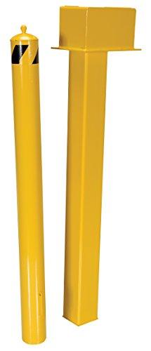 Vestil BOL-SSTOR-42-4.5 Self Storing Bollard with Door and Lock, 42'' x 4.5'', Yellow by Vestil