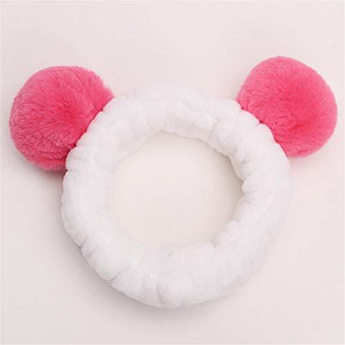 Plush Pompon Ball Headband Headwear Women Girls Washing Face Spa Makeup Hairband Hair Halloween Christmas ()