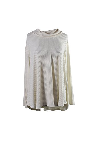 Style & Co . 3/4 Sleeve Cardigan - Style & Co. Womens Plus Cowl Neck Knit Pullover Top Ivory 2X