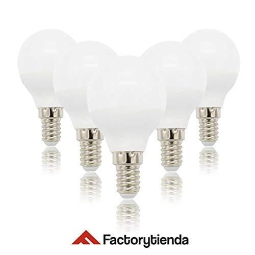 PACK 5 unidades Bombilla LED G45 esferica ,consumo 6W(equivalente a 60 W)