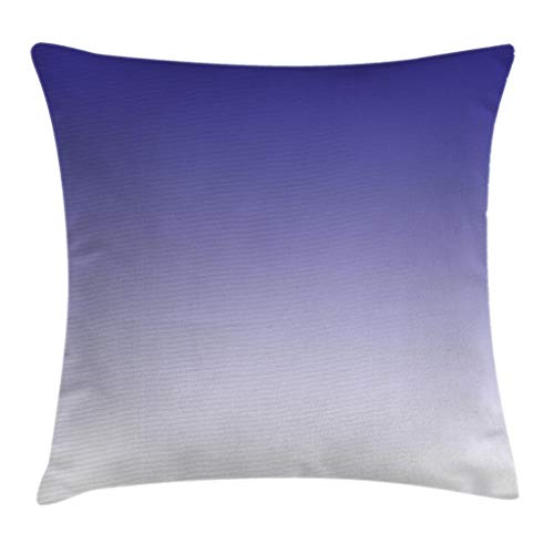 - Ambesonne Ombre Throw Pillow Cushion Cover, Twilight in The Morning Inspired Color Ombre Design Digital Print Room Decorations, Decorative Square Accent Pillow Case, 18 X 18 Inches, Indigo White