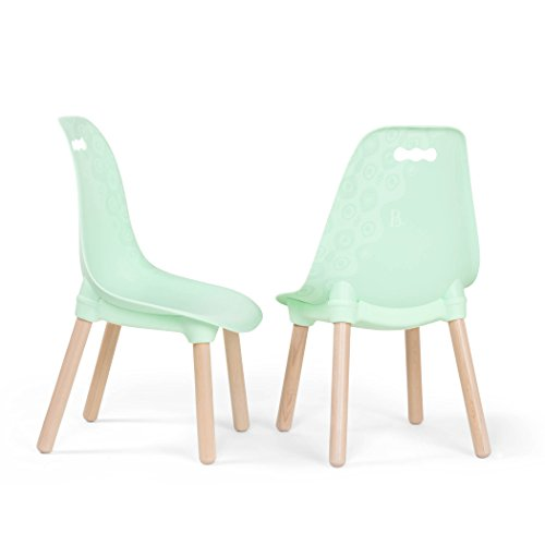 B. spaces by Battat - Kid-Century Modern: Trendy Toddler Chair Set of Two Kids Chairs - Kids Furniture Set for Toddlers and Kids - - Mint Chair Outdoor