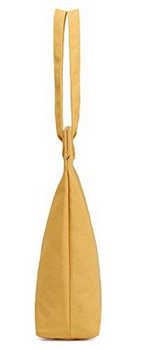 fourre tout Sacs Jaune FBUFBC181450 AllhqFashion Achats bandoulière Toile Fête Femme Sacs Zippers à Jaune AFzav