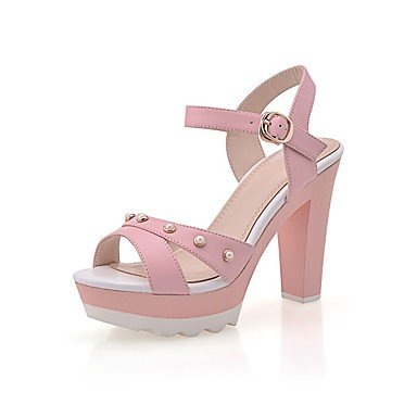LvYuan Mujer-Tacón Stiletto-Otro Confort Innovador Gladiador Suelas con luz Zapatos del club-Sandalias-Exterior Oficina y Trabajo Vestido Blue