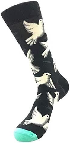QinMMROPA unisex calcetines largos de algodón para hombre mujer ...