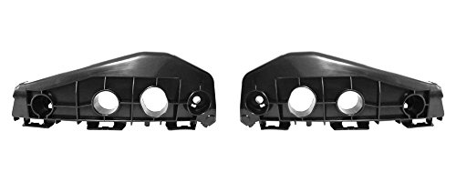 DAT 11-13 TOYOTA COROLLA BLACK FRONT BUMPER BRACKET SUPPORT SET OF TWO LEFT DRIVER RIGHT PASSENGER SIDE PAIR TO1042114
