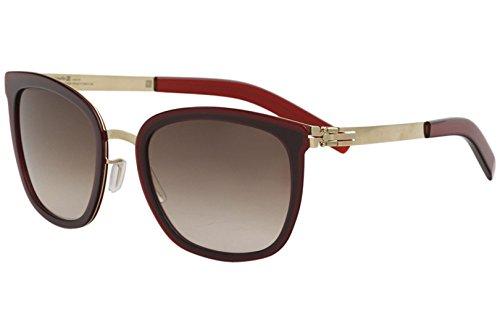 ic! Berlin Maira B. Sunglasses Rose Gold Very Berry / Summerhaze Lens 52 ()
