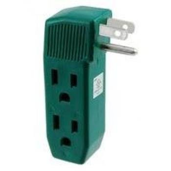 Vertical Adapter - IIT vertical wall tap 3-outlet adapter - UL listed