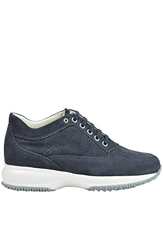 Hogan Vrouwen Mcglcak03037e Blauwe Suède Sneakers