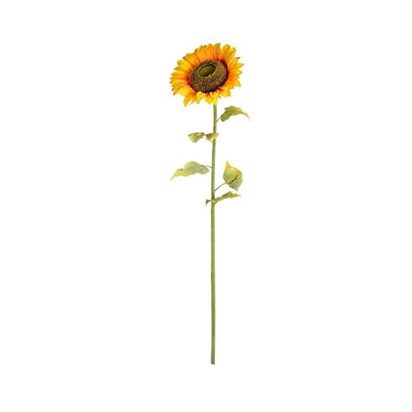 Vickerman FA187401 Yellow Sunflower Floral Stem