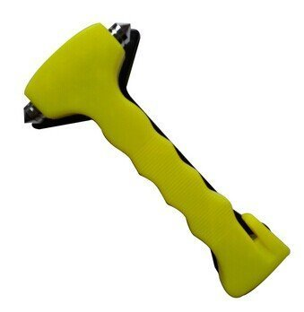 KINGLAKE Car Safety Hammer Green Window Breaker and Seatbelt Cutter Emergency Escape Tool Long Handle with Night-luminous