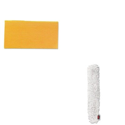 KITCHI0416RCPQ853WHI - Value Kit - RUBBERMAID COMMERCIAL PROD. HYGEN Quick-Connect Microfiber Dusting Wand Sleeve (RCPQ853WHI) and Chix Stretch N Dust Cloths (CHI0416)