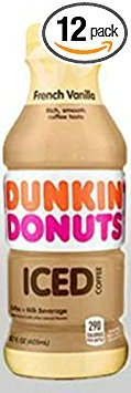 Dunkin' Donuts Bottled Ice Coffee 12 Pack (French Vanilla) by Dunkin' Donuts